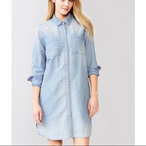 Gap linen denim shirt dress